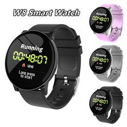 New Arrival Smart Watch Australia - New Arrival W8 Smart Watch W8 Watches Wristband Android Watch Ultra-thin Racket Bright Screen Fitness Tracker IP67 Waterproof Running Cyclin
