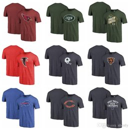 Cardinal Cotton Australia - NEW 2019 Men Cardinals Falcons Ravens Bills Panthers Bears Thrownback Logo Tri-Blend T-Shirt 100% Cotton