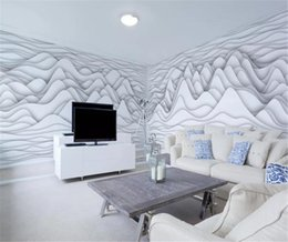 cheap moulds Australia - Art Abstract Black and White Mountain Lines Whole House Background Wall Discount For Cheap Wallpaper