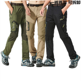 439254cf847 Men s Removable Quick Dry Waterproof Pants New 2018 Summer Lightweight  Trousers Male Army Military Zipper Short Cargo Mountaineering Pants