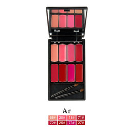 $enCountryForm.capitalKeyWord NZ - 8 Colors SET Makeup Lip Gloss Palette Sexy Lipbalm Moisturizer Cosmetic Lipstick Lip Cream Shimmer Kit