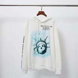 $enCountryForm.capitalKeyWord NZ - 2019 fashion Statue of Liberty Torch Print Hoodie Sweater Men's Casual Loop Hoodie, size S-XL, cotton warm.