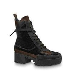$enCountryForm.capitalKeyWord Australia - Laureate Desert Boot Designer Boots Women Boot Shoes Trainers Leather Laureate Platform 1a43r7 1a4h0f (with Box+dust Bag) 5cm Heel T34