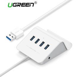 laptop accessories china NZ - Free shipping USB3.0 HUB with Phone Holder 4 Port USB HUB USB Splitter Power Adapter for iMac Computer Laptop Accessories HUB USB 3.0