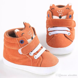 canvas shoes kid sole Australia - winter baby boy girl shoes Cotton Cloth kid Fox head Lace first walker Canvas Sneaker anti-slip Soft Sole Toddler footwear hook