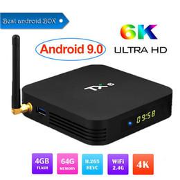 Android 4.4 Hdmi Tv Box Australia - 1 PCS TX6 Android 9.0 CAIXA Smart TV 4GB 64GB H6 Allwinner Quad core 2.4G + 5G dual Wifi BT 4.1 Set Top Box H.265 4 K HD Media Player