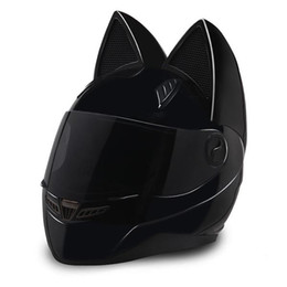 NTS-003 NITRINOS Brand motorcycle helmet full face with cat ears Personality Cat Helmet Fashion Motorbike Helmet size M  L XL  XXL on Sale