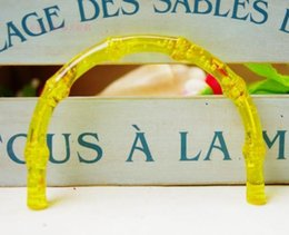 Discount purse frame bag handles - Imitate Bamboo U Shape Plastic Resin Acrylic Bag Handle Fashion Nice Handmade Obag Purse Frame Handles For Handbag Acces