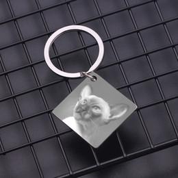 Dog Plates Australia - Personalized Custom Photo Pendant Keychain High Quality Dog Tag Souvenir Chain Fashion Jewelry For Men Women Best Birthday Gift