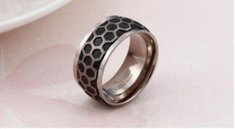 $enCountryForm.capitalKeyWord Australia - Fashion Contracted Style Rings Pure Titanium Material Ring Titanium Rings Fashion Pure Titanium Jewelry Hexagon Hive Rings
