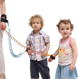kids harnesses NZ - Children Anti lost strap Child kids safety anti lost wrist link 1.5m outdoor parent baby leash band baby toddler harness WCW807