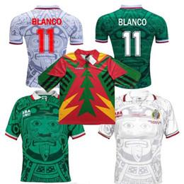 ae8451f2bd2 1998 MEXICO National Team RETRO VINTAGE BLANCO Throwback Classic Soccer  Jerseys 98 Mexico Campos Hernandez Football Shirt 1994 Jorge Campos