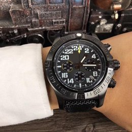 top quality luxury watch NZ - Top quality luxury watch 43mm luxury mens watches Avenger quartz battery Chronograph Black Leather bracelet Sapphire mens watches wristwatch