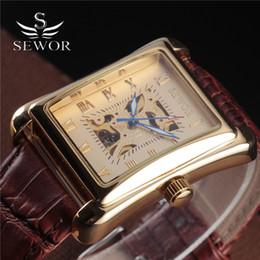 $enCountryForm.capitalKeyWord Australia - SEWOR  Men'S Antique Watch Gold Skeleton Wrist Watches Mechanical Hand Wind Vintage Leather Clock Relogio Masculino