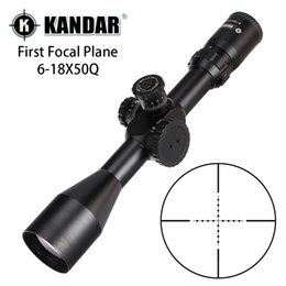 scope mil dot reticle Canada - KANDAR 6-18X50Q First Focal Plane Hunting Riflescopes Side Parallax Adjustment Mil Dot Glass Etched Reticle Turrets Reset Scope