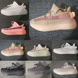 Toddler sneakers online shopping - True Form Infant v2 Hyper space Kids Running shoes Clay Kanye West Fashion toddler trainers big small boy girl Children Toddler sneaker