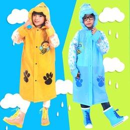 $enCountryForm.capitalKeyWord Australia - Cute Cartoon Animal EVA Children Rain Coat Inflatable Hat Poncho Outdoor Boys Girls Baby Raincoat Thickness Waterproof Windproof Rainswear