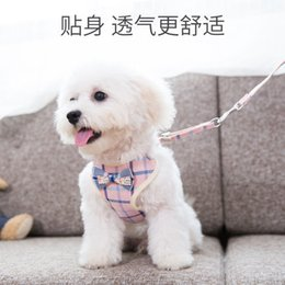 Discount dog walking chain - Small and Medium Dog Chain Teddy Beauty Walking Dog Rope Cat Chest and Back Belt