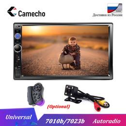 bluetooth car cameras 2019 - Camecho 7'' HD Autoradio 2 Din Mp5 multimedia Player Car Radio Bluetooth Car Audio 12V Auto Audio Stereo USB S