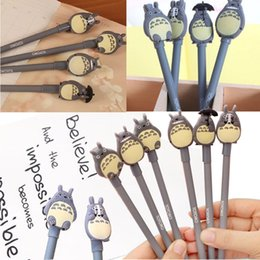 ToToro pen online shopping - Totoro Pen mm Black Craft Pens Writing School Supplies Office Stationery Students Gift Kawaii Stationary Gifts for Kids
