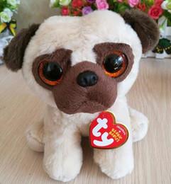 Folk Art Christmas Australia - Rufus pug dog 15cm 6 inch Ty classic Plush Toy Stuffed Animal Soft Kids Toy Christmas Gift Hot Sale
