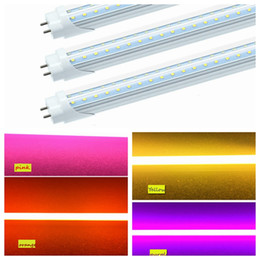 "orange tube lights NZ - T8 48"" Inch LED Color Lights 4ft G13 V shape LED Tube Red Blue Green Yellow Orange Pink Purple Colored Fluorescent Replacement Lamp"