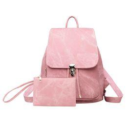 $enCountryForm.capitalKeyWord Australia - New Women Backpack for Teenage Girls School Bags Soft PU Leather Imitation Denim Bag Large Drawstring Backpacks mochila feminina