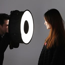 45cm Portable Softbox Camera Flash Diffuser Speedlight Round Style Light Shoot Soft box Soft Light dslr camera accessories T191025 on Sale