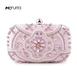 d564ba9635a1 Luxury Crystal Evening Bag Handmade Style Rhinestones Pearl Women Evening  Bags Vintage Satin Lady Party Wedding Clutches Purses