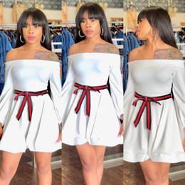 $enCountryForm.capitalKeyWord NZ - Autumn and winter 2018 new style, European and American fashion, sexy nightclub, a word shoulder, belt, ribbon, dresses