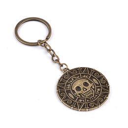 $enCountryForm.capitalKeyWord Australia - Key chains Aztec Coin Skull Pendant Key rings Jewelry For Men Women fashion Jewelry