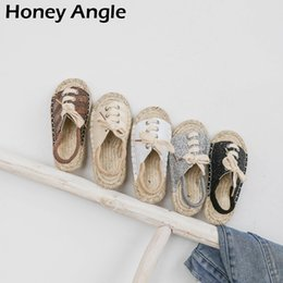 Discount korean girls fashion heels Spring Autumn Baby Girl Sandals Korean Style Kids Shoes For Girl Boy Weave Summer Fashion Children Sandals Casual Baby S