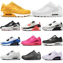 classic men sneakers Australia - Classic Triple White S All Black Leather Brand Mens Cushion Shoes Infrared Yellow Bred Men Trainers Fashion Womens Sports Sneakers 36-45