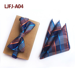 $enCountryForm.capitalKeyWord Australia - 26 Styles Luxury Silk Polka Dot Paisley Flower Gird Striped Bow Tie Square Pocket Set for Man Wedding Party Necktie Gift for Him