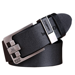 genuine leather strap male belt 2019 - Luxury Belt Men's Belts Pin Buckle Man's Genuine Leather Strap for Jean High Quality Wide Brown Color Fashion