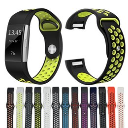 $enCountryForm.capitalKeyWord NZ - Small Large Sizes Smart Watch Silicon Band Replacement Adjustable Breathable Sports Smart Straps Band For Fitbit Charge 2