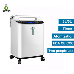 home generators NZ - FDA CE Certificate Oxygen Concentrator 3L Large Flow 94% Medical Home Two People use Oxygen Generator Regulator with Atomization