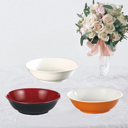 melamine bowls wholesale Canada - Melamine Dinnerware Soup Bowl With Chain Restaurant A5 Melamine Bowls Imitation Porcelain Melamine Tableware Private Household