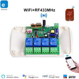 Smart Home Appliances Australia - EweLink 4ch Smart Switch 4 Channels 433MHz 2.4G Wifi Remote Control Smart automation modules 10A Home Appliances Alexa Google