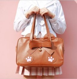 japan girl uniforms Australia - Japan High School Lolita Cat Claw JK Uniform PU Leather Shoulder Bag Cosplay Girls Handbag