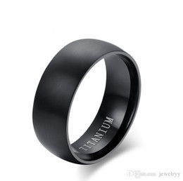 $enCountryForm.capitalKeyWord NZ - Classic European Design Black Titanium Steel Ring Man Jewelry Stainless Steel Band Rings for Men Wedding Engagement Party