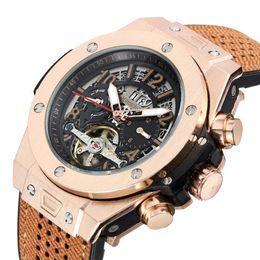 $enCountryForm.capitalKeyWord NZ - High quality luxury leather watch with flywheel automatic mechanical watch waterproof night light business men's Watch