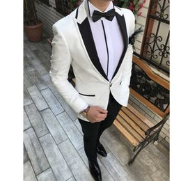 $enCountryForm.capitalKeyWord Australia - Italian One Button Custom Slim Fit Formal Suit Mens Wedding Suits 2 Pieces Jacket+Pants Groom Tuxedo Suits for Men