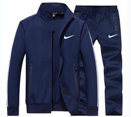 Toptan satış Erkek Eşofman Erkek Spor Yemin 2 Parça Setleri Spor Takım Elbise + Pantolon Eşofman erkek Giysileri Eğitim Takım Elbise Artı Boyutu 4XL