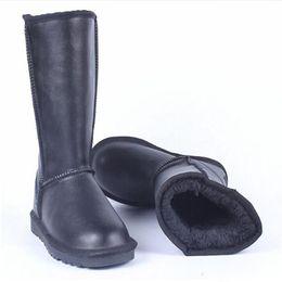 AlligAtor shoes women online shopping - Designer booties Australian Boots Women Snow Boots Winter Warm Outdoor long Boots Waterproof Leather Winter Shoes Unisex Size US