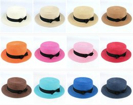 02ad671f73c Man Women Straw Hat Summer Beach Hats Children And Adult Size Flat Top Straw  Hat Men Boater Hats Flat Bowler Hat