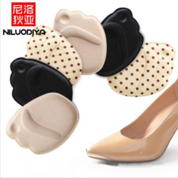 Discount forefoot pad insoles - 1 Pair Women's High Heels Half Yard Insoles Massage Anti-skid Forefoot Pad Sponge Insole Pain Women's Summer S