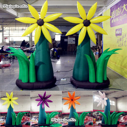 $enCountryForm.capitalKeyWord Australia - Large Inflatable Simulated Daisy Flower 3m Height Customized Plants Artificial Flower Tree For Park And Party Decoration