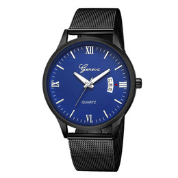 Cheap rhinestone watCh online shopping - Geneva Geneva Network Bring Wrist Watch Cheap Wrist Watch Calendar WristWatch Quartz Wrist Watch