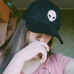 $enCountryForm.capitalKeyWord Australia - Alien Head Embroidered Baseball Cap Skull Embroidered Sports Leisure Duck Tongue Cap Street Trend Explosion New 2019